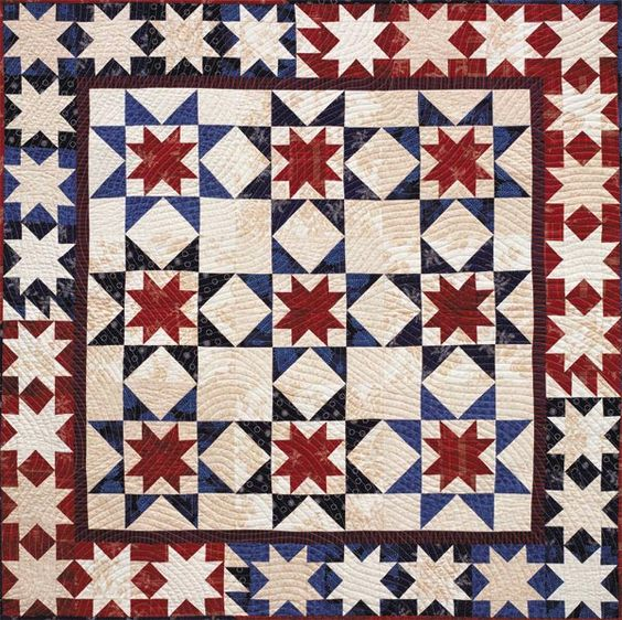 Classic American. This would make a great quilt for Quilts of Valor projects.