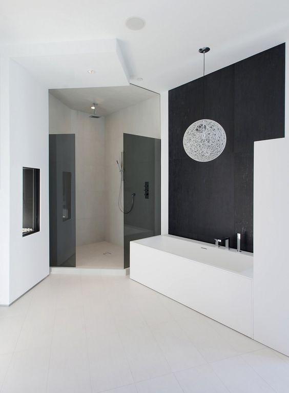 Random Pendant by Bertjan Pot for Moooi: Dream Bathrooms, Dreamy Bathrooms, Bathrooms Decor, Interior Design Bathroom, Bathrooms Ideas, Bathroom Ideas, Architecture Interior Design, Black White Bathrooms