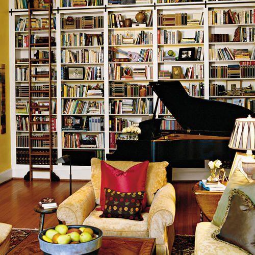 Jumpstart A Bland Room Floor To Ceiling Bookshelves Home Home