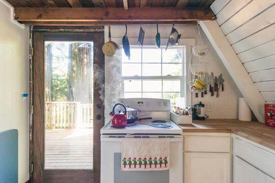 Küche der Waldhütte