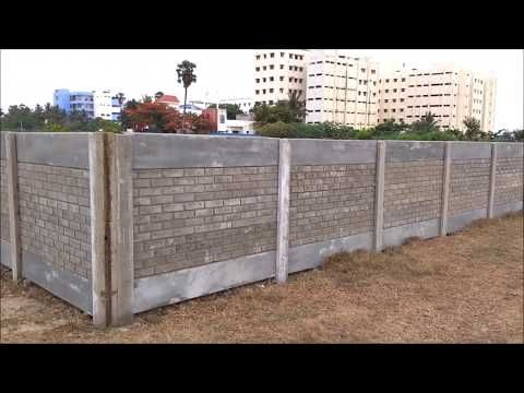 Precast Concrete Fence Panels Residential Youtube Concrete