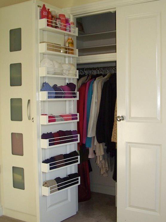 20 closet organization tips tricks built in shelving for Inside wardrobe storage