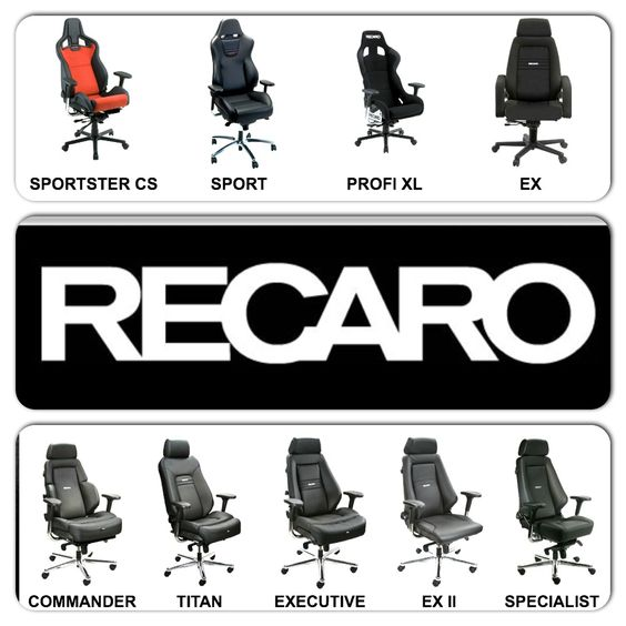 full line of recaro office furniture from racechairs