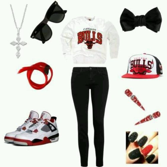Chicago bull outfit Outfits Pinterest