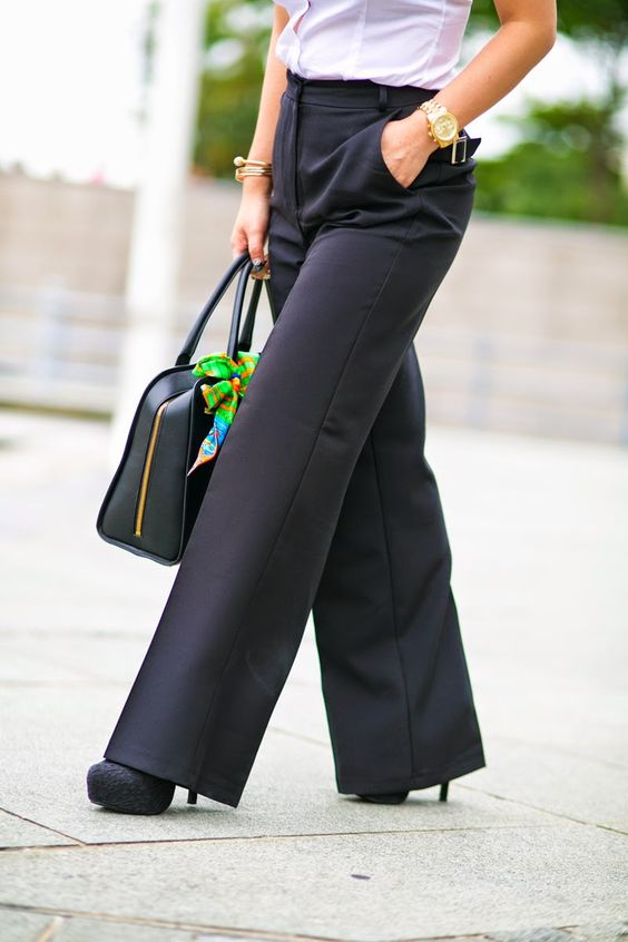 Wide leg pants for working woman iheartCrystalPhuong- Singapore ...