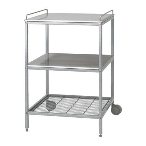 IKEA FLYTTA Kitchen Trolley Stainless Steel 98 x 57 cm
