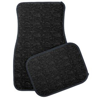 Almost Solid Black Textured Design Car Mats Floor Mat #zazzle