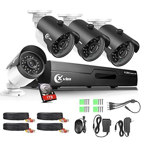 A Updateda Xvim 8ch 4 In 1 720p Dvr Security Camera System Cctv Wired Recorder With 1tb Har In 2020 Security Camera System Security Camera Security Cameras For Home