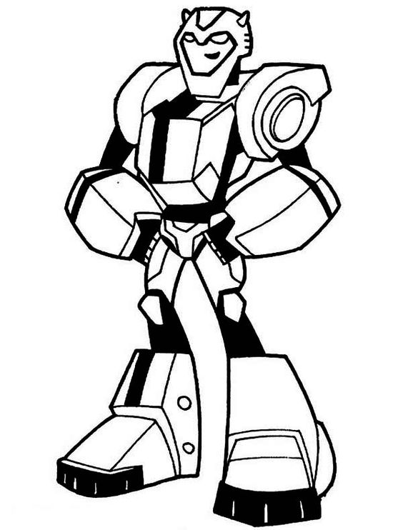 Transformers Awesome Bumblebee From Transformers Coloring Page