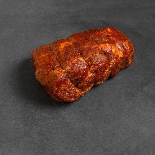Rôti de soc de porc désossé capicollo assaisonné