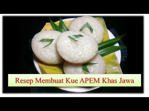 Cara Membuat Kue Apem Khas Jawa Enak Youtube Indonesian Desserts Steamed Cake Recipes