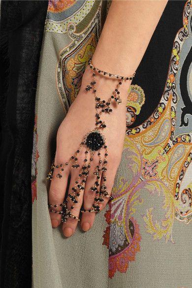 Rosantica Odalisca goldfarbenes perlenverziertes Fingerarmband