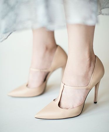 Pura Lopez Nude Gianella T-Bar Heel   Ceremonial Collection
