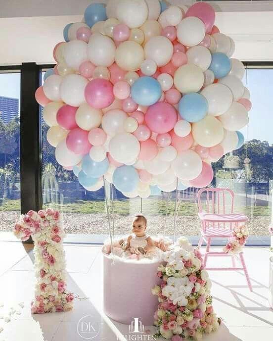 Hot Air Balloon Theme Party Idea With Images Diy Balloon