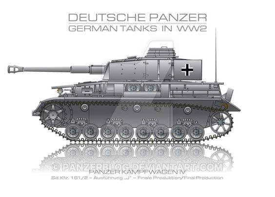 Sd. Kfz. 161/2 - German tank - Panzer by panzerblog.deviantart.com on @DeviantArt