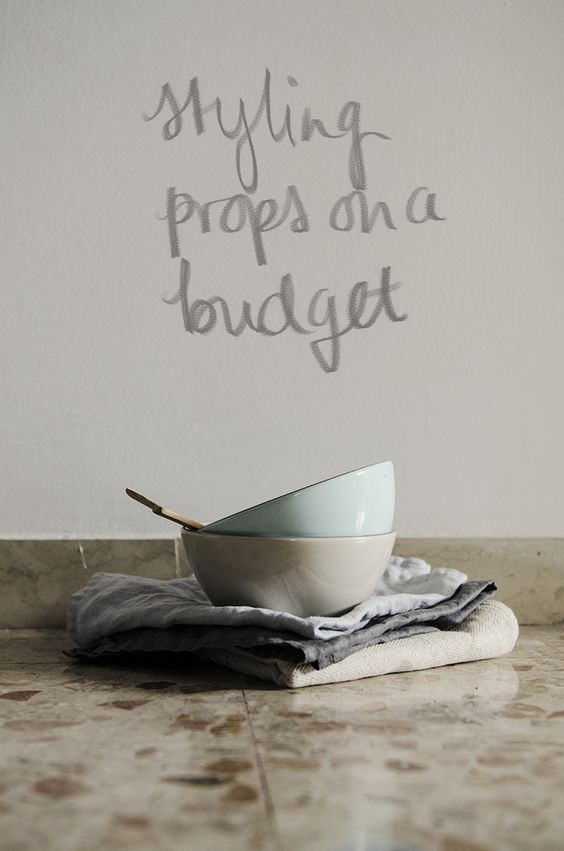 styling props on a budget - great tips for still life photography from Michelle