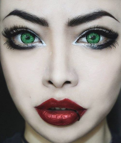 Black & White | Eye Makeup | Pinterest | Makeup, Red lips ...