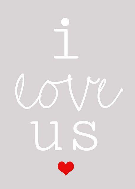 i love us {Free Printable}: