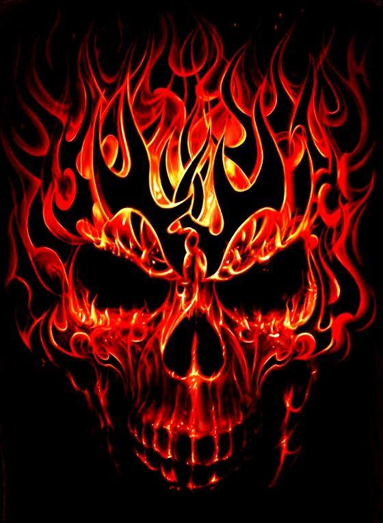 Tribal Flame Skull With Images Skull Artwork Skulls Drawing