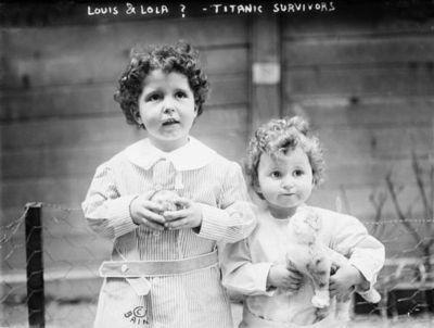 Titanic Survivors Louis & Lola (last name unknown) April, 1912