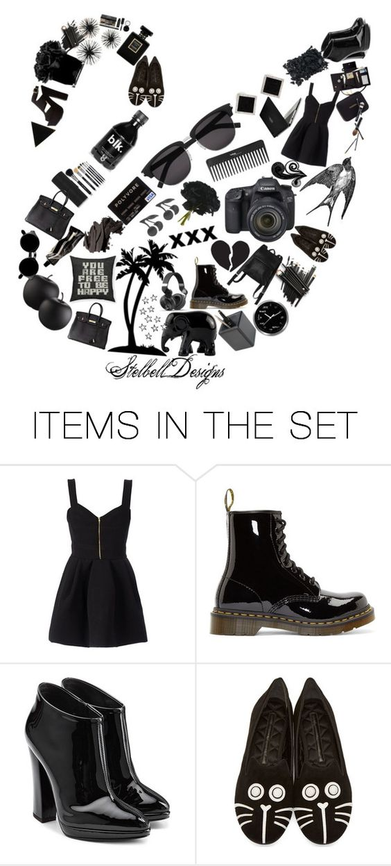 """""""The Beautiful Black Swan"""" by stelbell ❤ liked on Polyvore featuring art"""