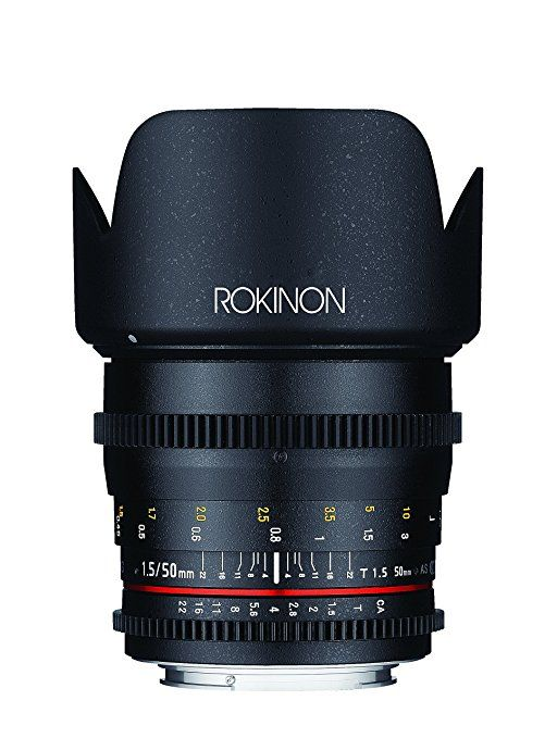 Rokinon Ds50m C Cine Ds 50 Mm T1 5 As If Umc Full Frame Cine Lens For Canon Ef Cameras Fixed Canon Lens Digital Camera Lens Mirrorless Camera