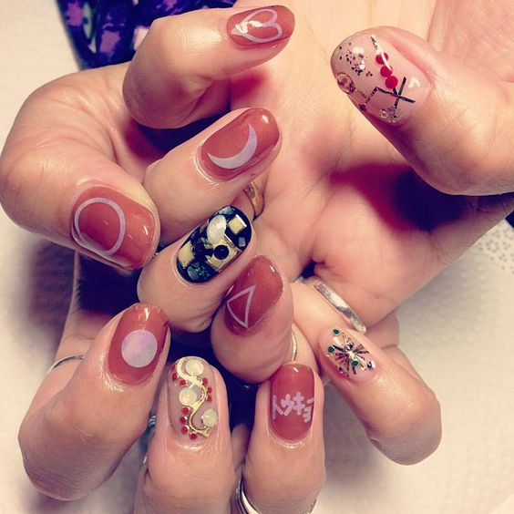 Japanese nail art. | Nail Art | Pinterest | Nail art ...