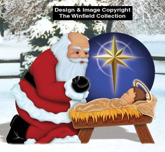 What are some yard art patterns for Christmas?