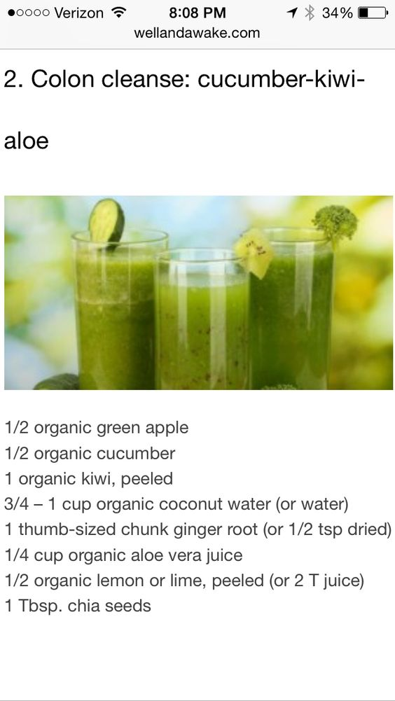Colon Cleansing Smoothie Stay Fit Tips Pinterest Weight loss