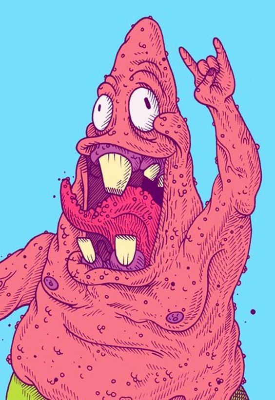 SpongeBob and Patrick - Illustrations by Beto Garza 2