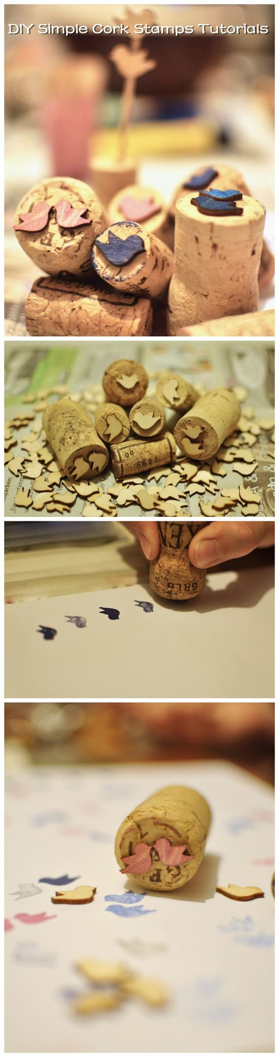 Diy simple cork stamps tutorials weeding pinterest for Simple cork