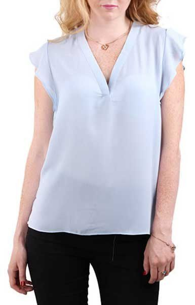 Wavy Sleeves Blouse - 3 colors