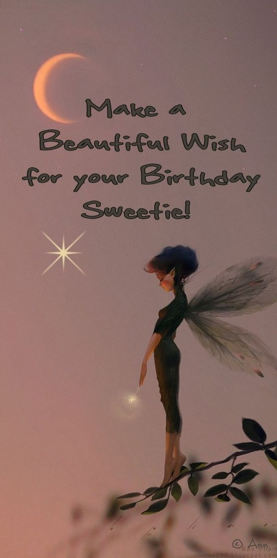 ┌iiiii┐ Happy Birthday Make a Wish for your Birthday Sweetie!: