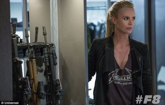 Major newcomer: South African beauty Theron will play the villainous character Cipher, a weapons expert of some sort