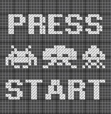 Point de croix : les bases avec le modèle des Space Invaders [tuto] | Ahookamigurumi