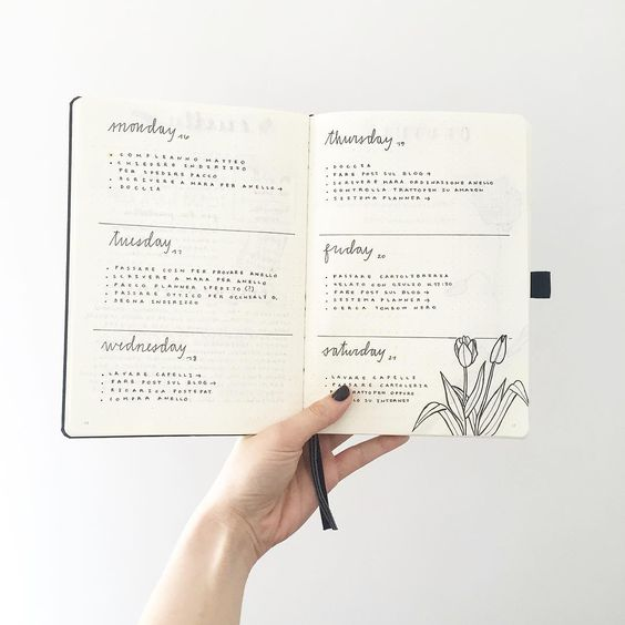 Configurar tu Bullet Journal - Estudio AVELLANA