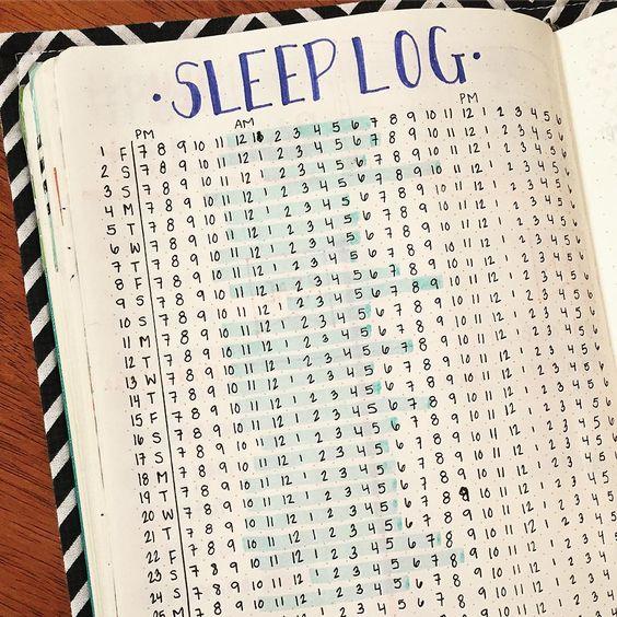 Sleep Tracker for your Bullet Journal (BuJo).: