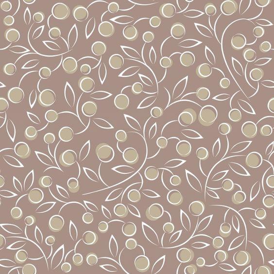Brown leaf vintage design office wallpaper