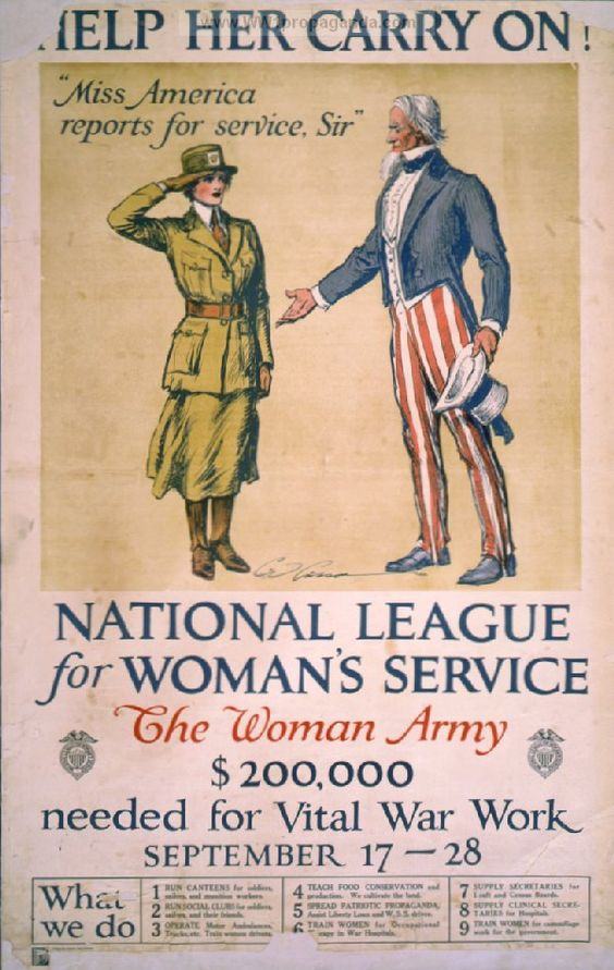 Help her carry on! National League for Women's Service ...