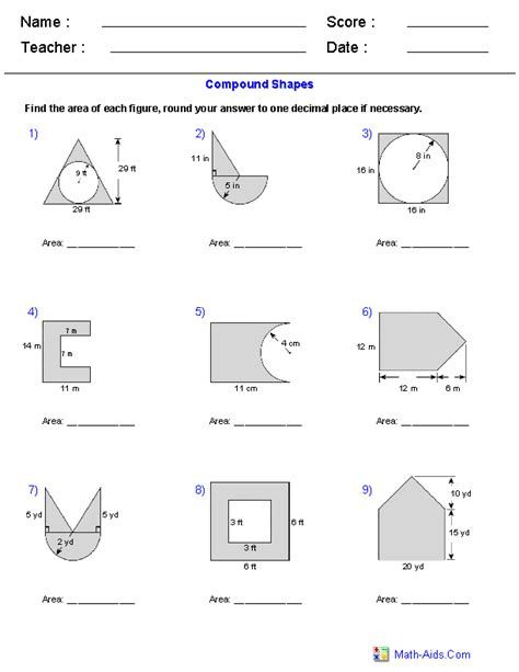 Compound Area Worksheet Gambarin Us Post Date 10 Nov 2018 78 Source Http Www Worksheeto Geometry Worksheets Shapes Worksheets Area Worksheets Math aids compound shapes