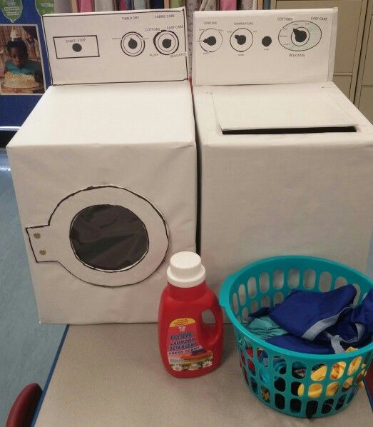 Washer Amp Dryer Made From Cardboard Boxes Sechols