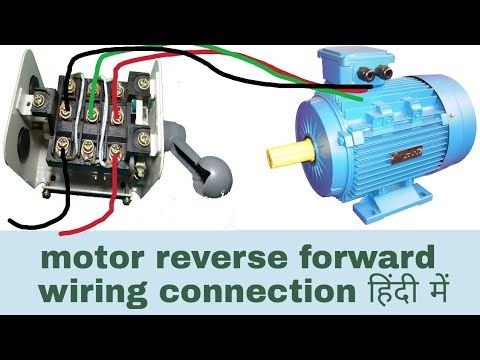 Motor Reverse Forward Wiring Connection With Changeover Switch In Hindi Hindi Urdu Youtube Seo Youtube Motor Reverse Electric Motor