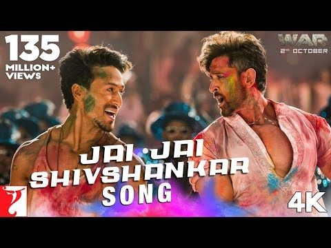 War Movie Song Jai Jai Shiv Shankar Song Hrithik Roshan Tiger Shroff Vishal Shekhar Ft Vishal Benny Top Tips In 2020 Songs New Hindi Songs Hrithik Roshan