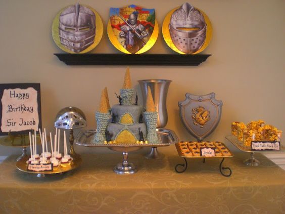 Coolest knight party ever... A Knights-In-Training Birthday Party!