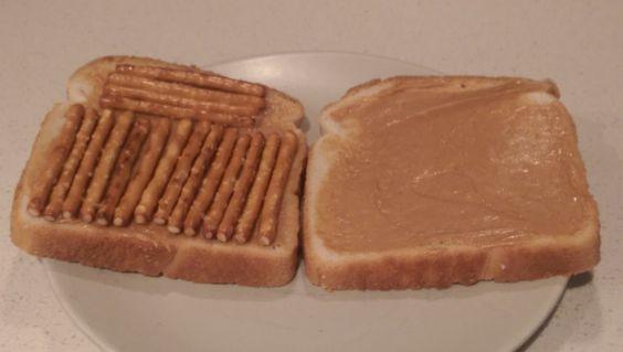 Peanut Butter And Pretzel Sandwich