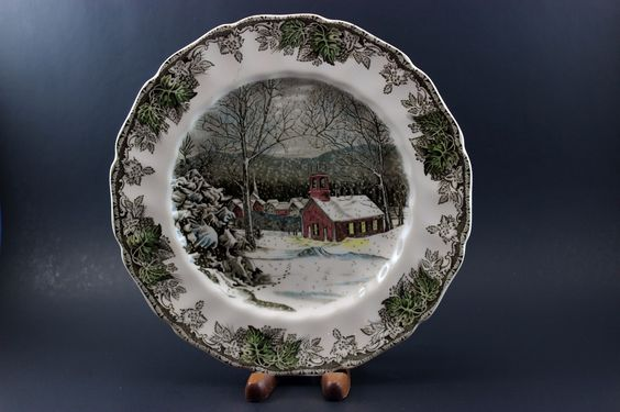 Johnson Brothers, The Friendly Village, School House Dinner Plate