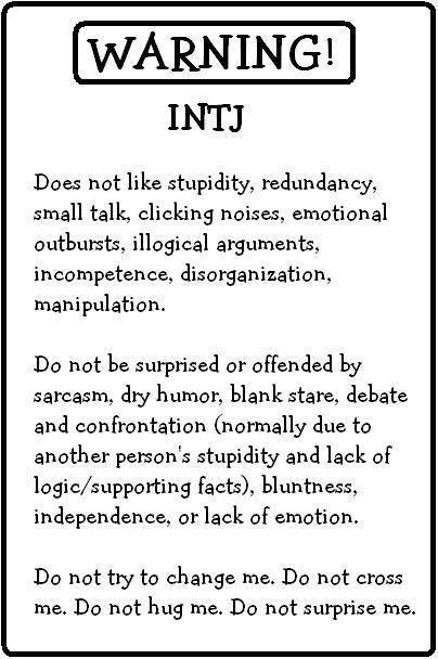 laughing so hard at this: Intj Personality, Intj Warning, Mbti Intj, Intj Introvert, Warning Intj, Intj Infj, Personality Intj, Intj Intp