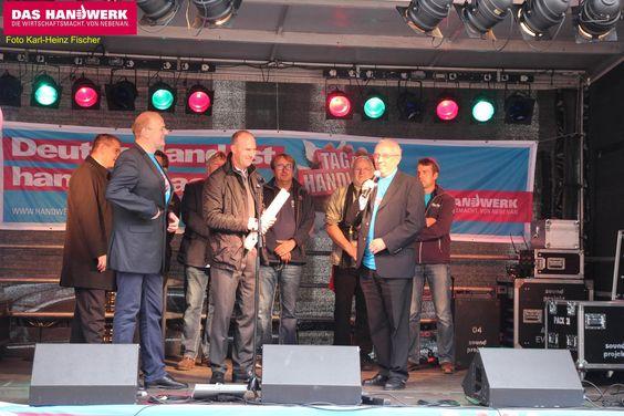 Obermeister Martin Ratzke und Beigeordneter und 1. Stellvertreter des Landrates