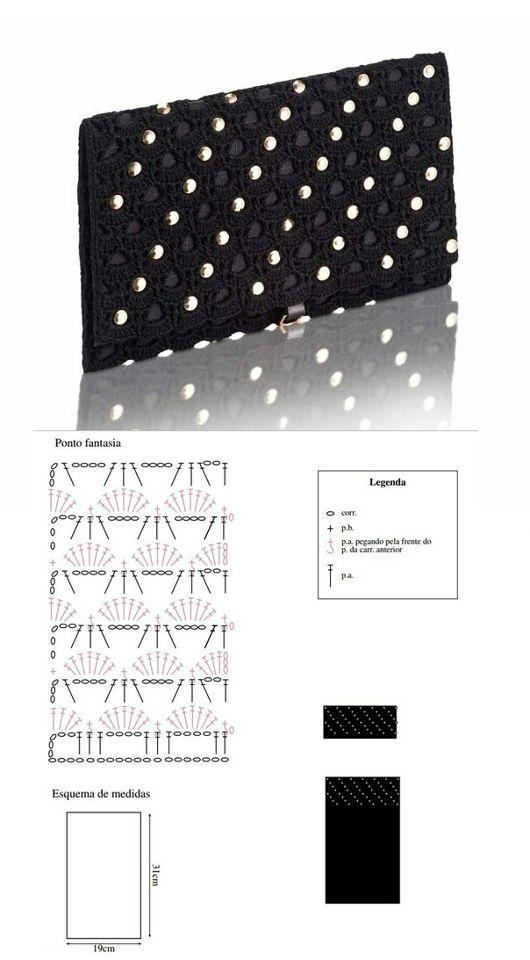 Patrones Crochet: Patron Crochet Bolso Mano de Noche: