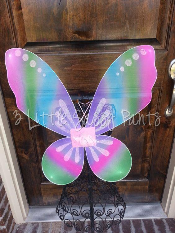 Rainbow Fairy Wings- Halloween- Costume- Birthday on Etsy, $8.95